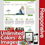 Maximum Green - Unlimited Colors, Images, Layouts - 5 Free Modules - Responsive Skin Mobile